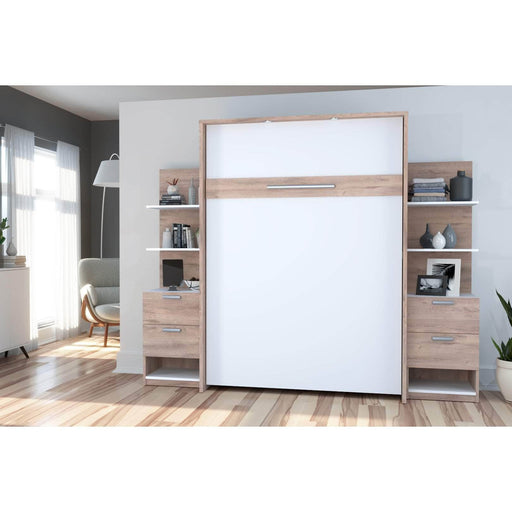 Pending - Bestar Full Murphy Bed Cielo Full Murphy Bed with Storage (98W) - Available in 2 Colours