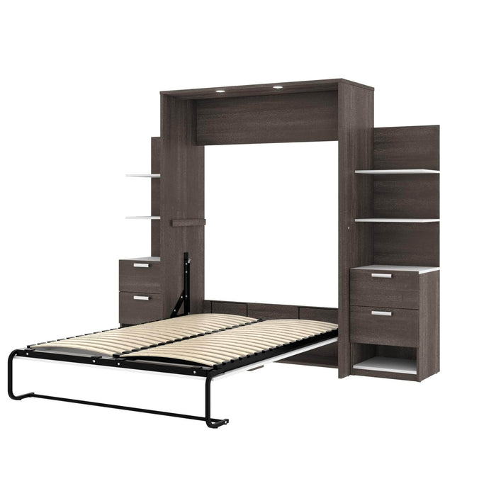 Pending - Bestar Full Murphy Bed Cielo Full Murphy Bed with Storage (98W) - Available in 2 Colors