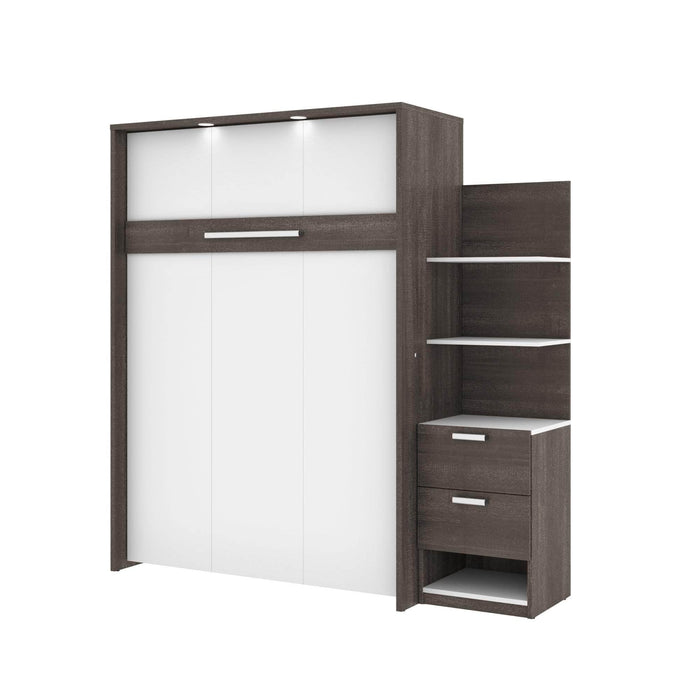 Pending - Bestar Full Murphy Bed Cielo Full Murphy Bed with Storage Cabinet (79W) - Available in 2 Colors