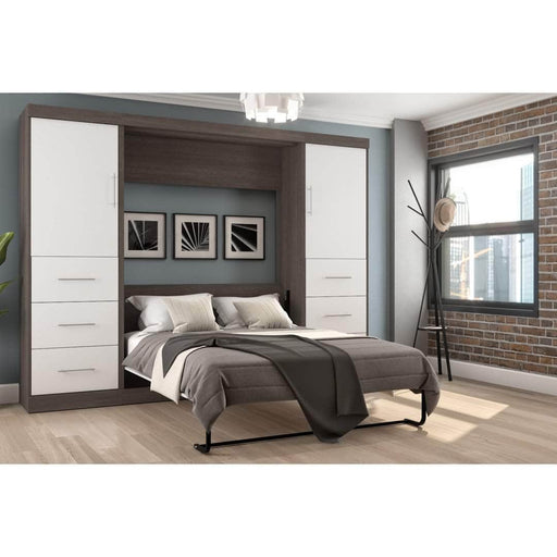 Pending - Bestar Full Murphy Bed Nebula  Full Murphy Bed and 2 Storage Units with Drawers (109W) - Available in 4 Colors
