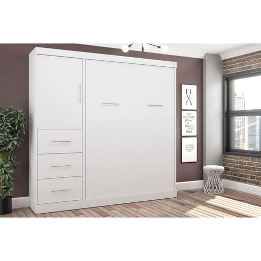 Pending - Bestar Full Murphy Bed Nebula Full Murphy Bed and Storage Unit with Drawers (84W) - Available in 4 Colors