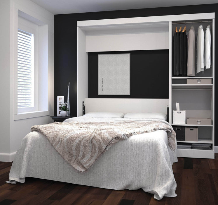 Pending - Bestar Full Murphy Bed Nebula Full Murphy Bed with Storage Unit (84W) - Available in 4 Colours