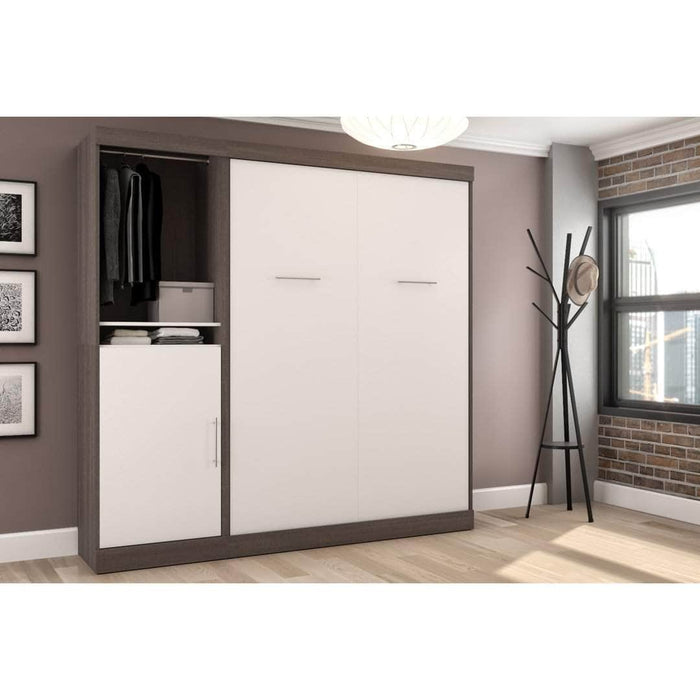 Pending - Bestar Full Murphy Bed Nebula Full Murphy Bed with Storage Unit (84W) - Available in 4 Colors