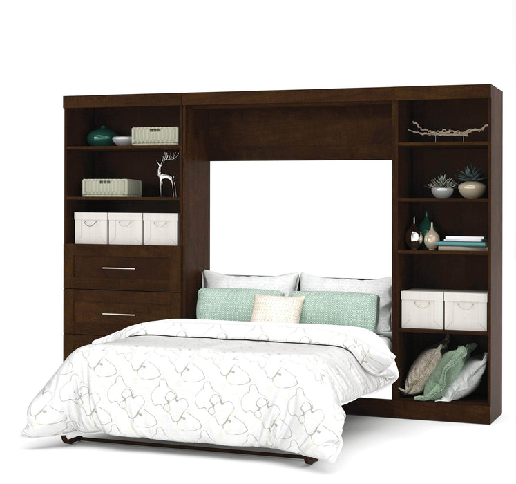 "Pending - Bestar Full Murphy Bed Pur Full Murphy Bed, 1 Storage Unit with Shelves, and 1 Storage Unit with Drawers (120"") - Available in 2 Colors"