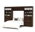 "Pending - Bestar Full Murphy Bed Pur Full Murphy Bed and 2 Storage Units with Drawers (131"") - Available in 2 Colors"