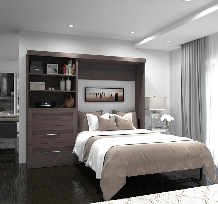 Pending - Bestar Full Murphy Bed Pur Full Murphy Bed and Storage Unit with Drawers (95W) - Available in 2 Colors