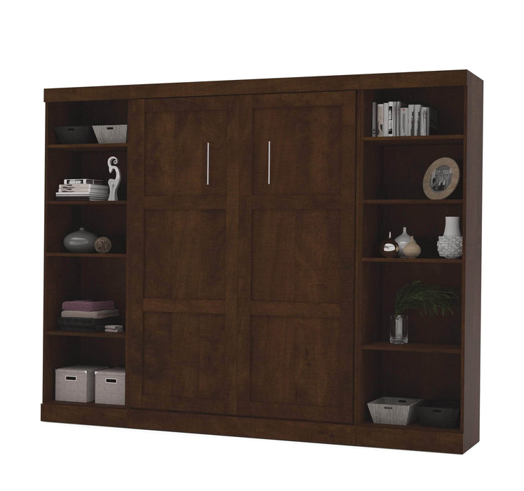 Pending - Bestar Full Murphy Bed Pur Full Murphy Bed with 2 Storage Units (109W) - Available in 3 Colours