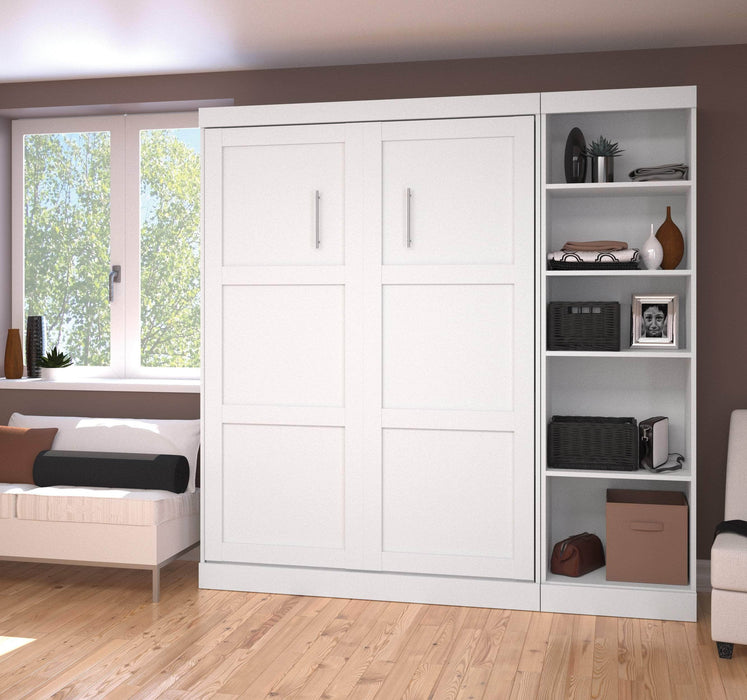 Pending - Bestar Full Murphy Bed Pur Full Murphy Bed with Storage Unit (84W) - Available in 3 Colours