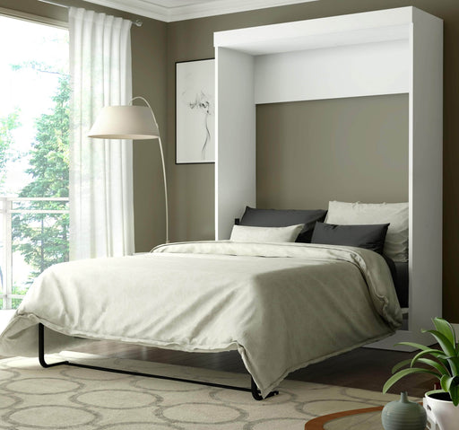 Pending - Bestar Full Murphy Bed White Edge 60W Full Murphy Bed - White
