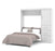 Pending - Bestar Full Murphy Bed White Nebula Full Murphy Bed and Storage Unit with Drawers (84W) - Available in 4 Colours