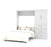 "Pending - Bestar Full Murphy Bed White Pur Full Murphy Bed and 1 Storage Unit with Drawers (95"") - White"