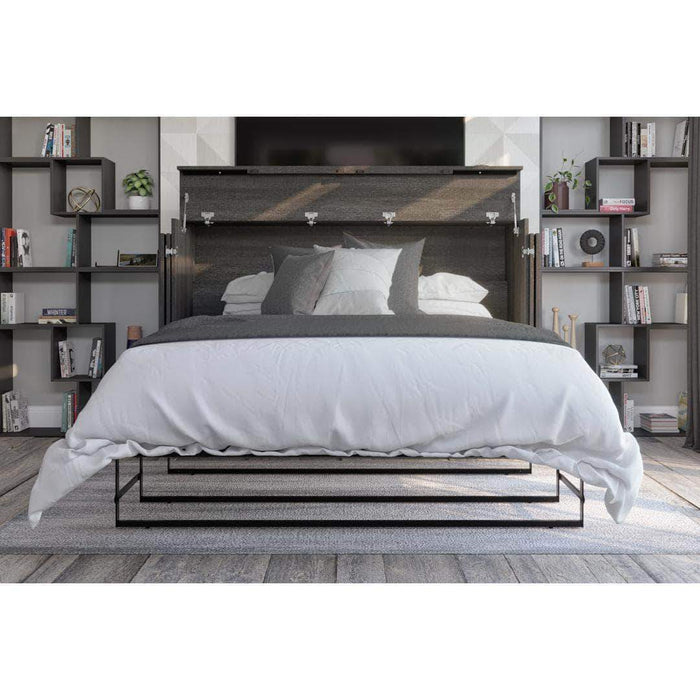 Pending - Bestar Grey Nebula Queen Murphy Cabinet Bed with Mattress - Available in 2 Colors
