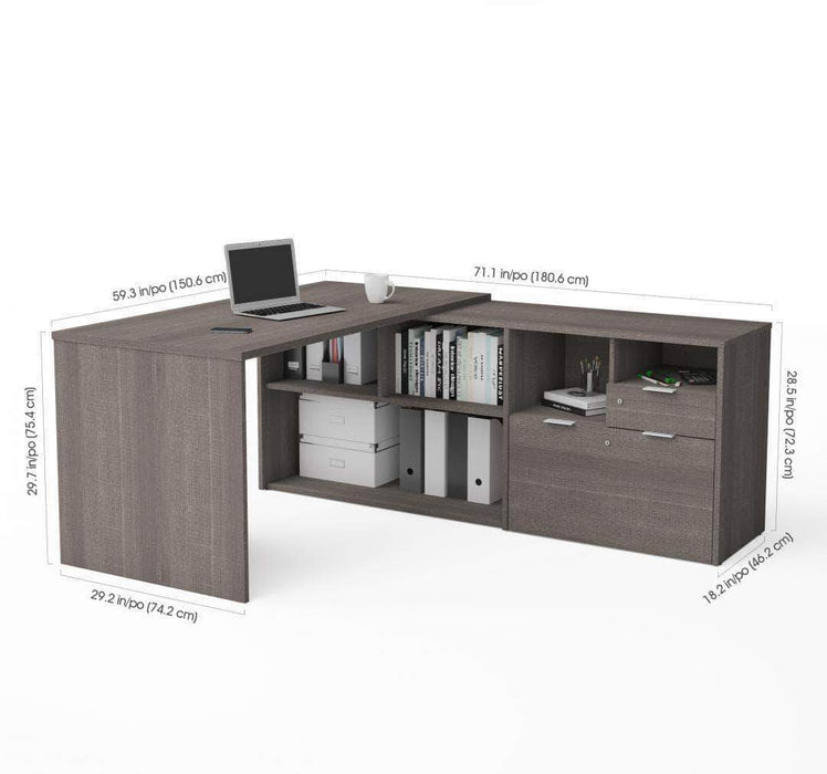 Pending - Bestar i3 Plus L-Shaped Desk - Available in 4 Colors