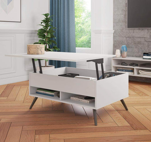 "Pending - Bestar Krom 37"" Lift-Top Coffee Table with Metal Legs - Available in 2 Colours"