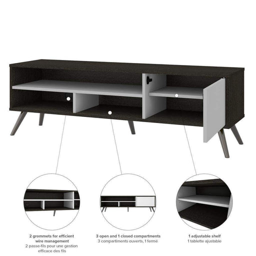 "Pending - Bestar Krom 54"" TV Stand with Metal Legs - Available in 2 Colors"