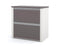 Pending - Bestar L-Desk Connexion 2-Piece set including an L-shaped desk and a lateral file cabinet - Available in 3 Colours