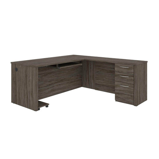 Pending - Bestar L-Desk Embassy L-Shaped Desk with Pedestal - Available in 2 Colours