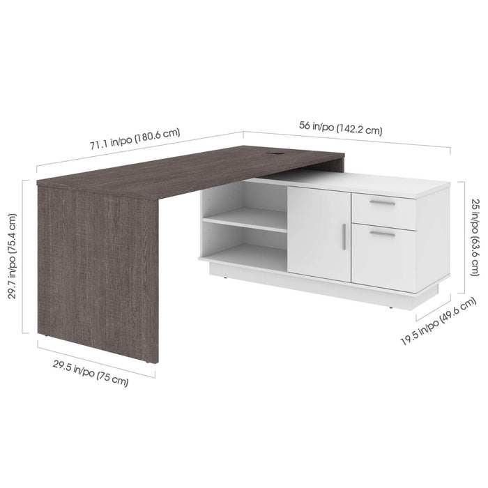 Pending - Bestar L-Desk Equinox L-Shaped Desk - Available in 2 Colors