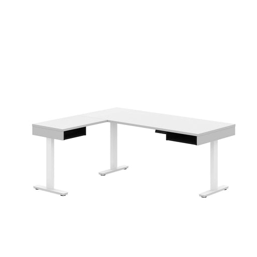 Pending - Bestar L-Desk White & Black Pro-Vega L-Shaped Standing Desk - Available in 2 Colours