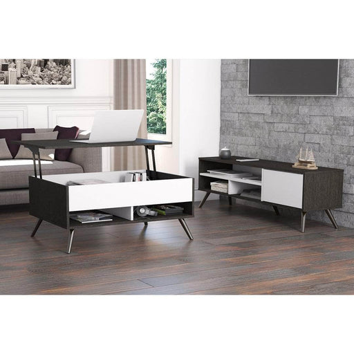 Pending - Bestar Living Room Table Krom 2-Piece set including a lift-top coffee table and a TV stand - Available in 2 Colors