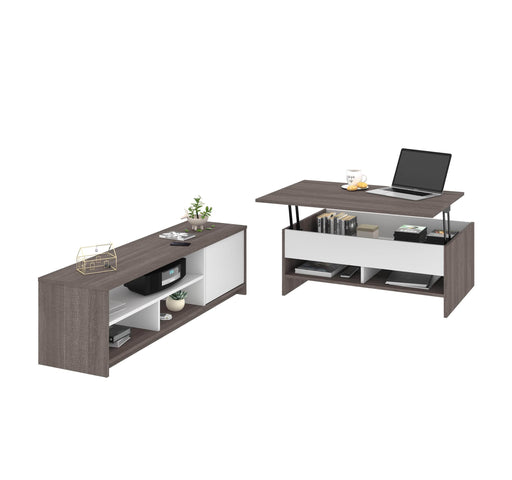 Pending - Bestar Living Room Table Small Space 2-Piece set including a lift-top coffee table and a TV stand - Available in 2 Colors