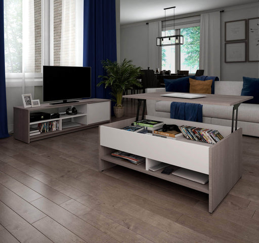 Pending - Bestar Living Room Table Small Space 2-Piece set including a lift-top coffee table and a TV stand - Available in 2 Colours