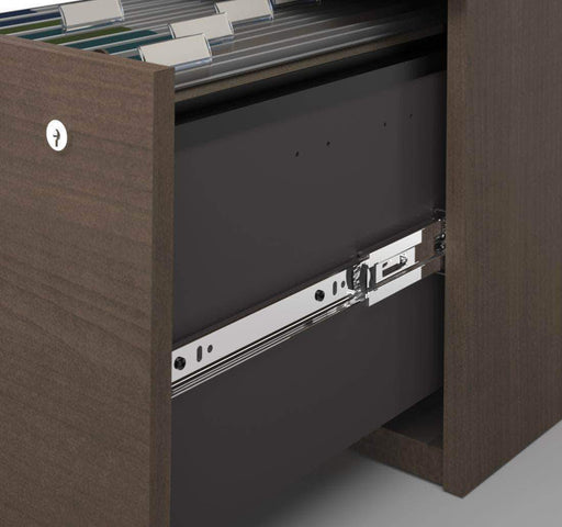 Pending - Bestar Logan U-Shaped Desk with Hutch, Lateral File Cabinet, and Bookcase - Available in 3 Colours
