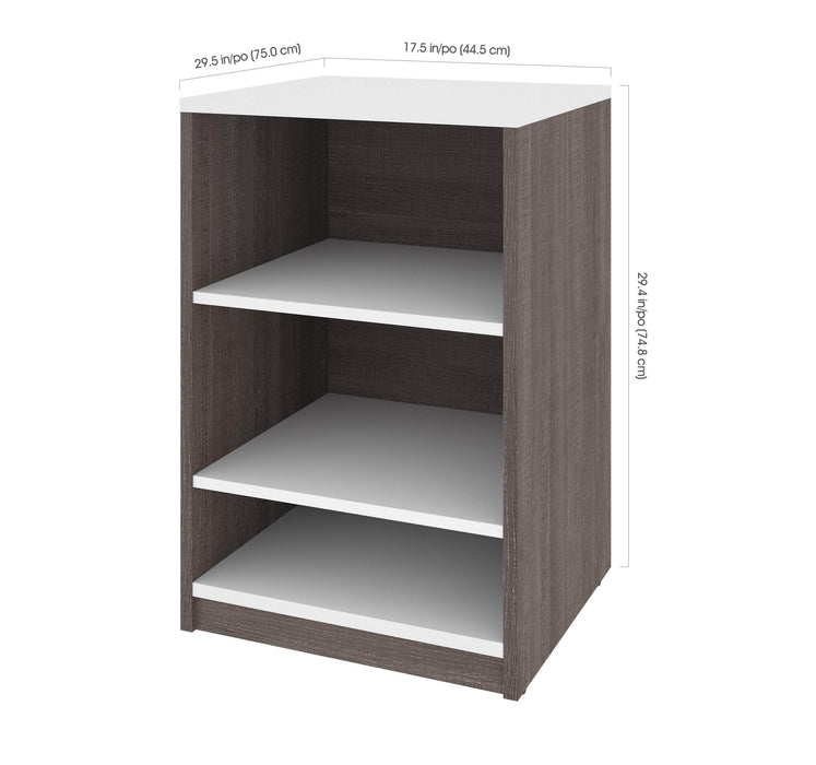 "Pending - Bestar Low Storage Unit Cielo 19.5"" Low Storage Unit - Available in 2 Colors"