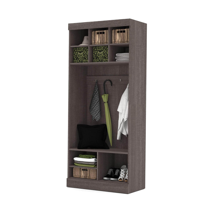 "Pending - Bestar Mudroom Storage Pur 36"" Mudroom Storage Unit with Bench - Available in 2 Colors"
