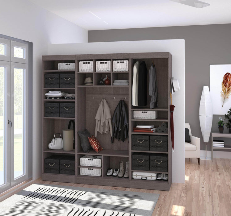 "Pending - Bestar Mudroom Storage Pur 86"" Mudroom Storage Unit with Bench - Available in 2 Colors"