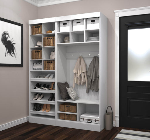 "Pending - Bestar Mudroom Storage White Pur 61"" Mudroom Storage Unit with Bench - White"