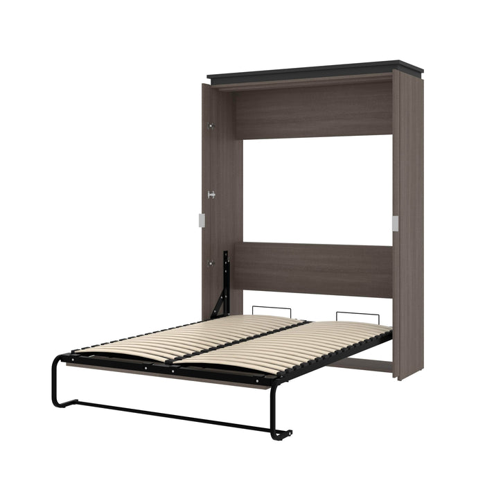 Pending - Bestar Murphy Beds Bark Gray & Graphite Orion 57W Full Murphy Bed - Available in 2 Colors