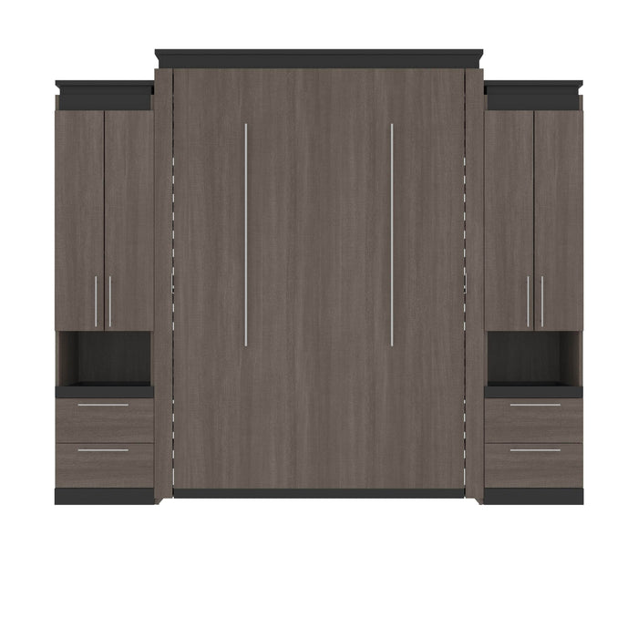 Pending - Bestar Murphy Beds Orion 104W Queen Murphy Bed And 2 Storage Cabinets With Pull-Out Shelves - Available in 2 Colors