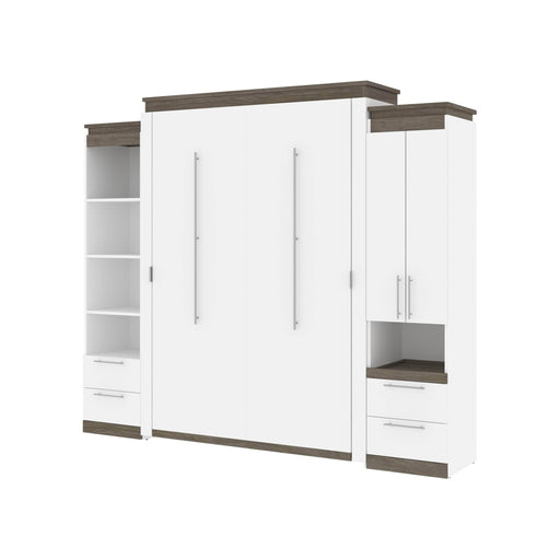 Pending - Bestar Murphy Beds Orion 104W Queen Murphy Bed And Narrow Storage Solutions With Drawers - Available in 2 Colors