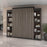 Bestar Queen Murphy Bed Orion 104W Queen Murphy Bed With 2 Narrow Shelving Units (105W) In Bark Gray & Graphite