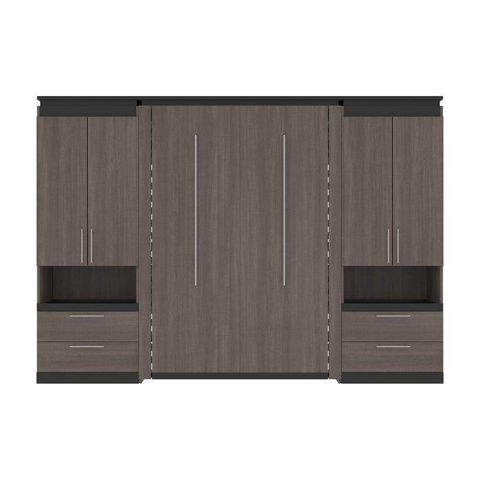 Pending - Bestar Murphy Beds Orion 118W Full Murphy Bed And 2 Storage Cabinets With Pull-Out Shelves - Available in 2 Colors