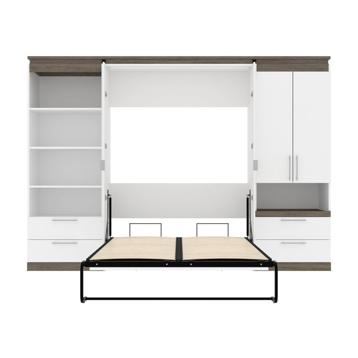 Pending - Bestar Murphy Beds Orion 118W Full Murphy Bed And Multifunctional Storage With Drawers (119W) - Available in 2 Colors