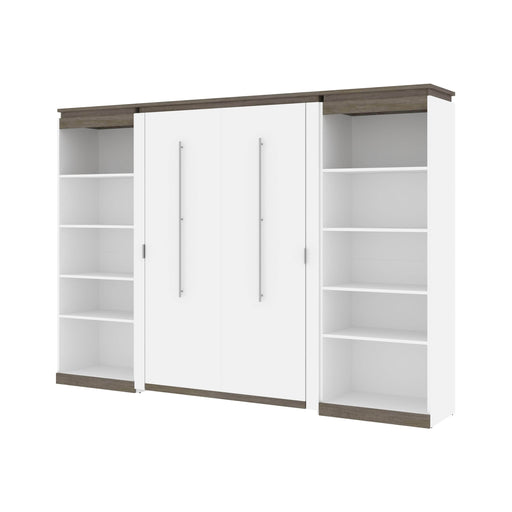 Pending - Bestar Murphy Beds Orion 118W Full Murphy Bed With 2 Shelving Units - Available in 2 Colors
