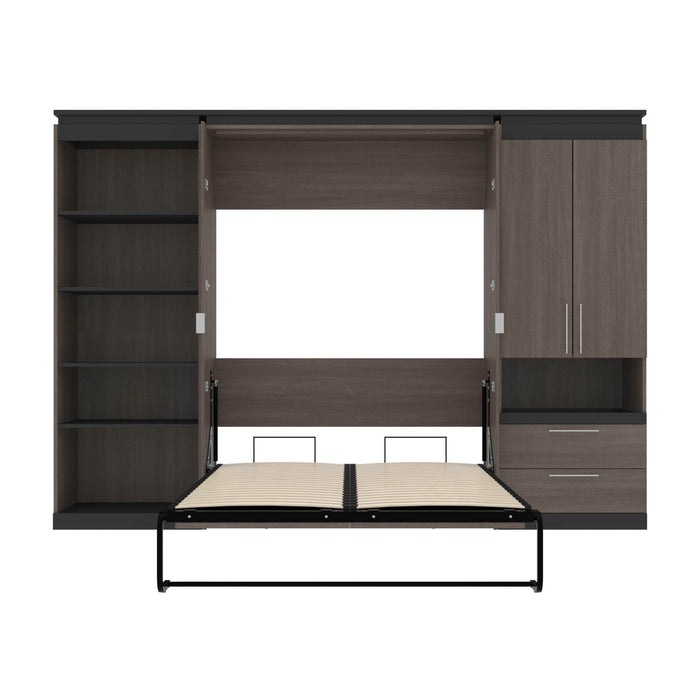 Pending - Bestar Murphy Beds Orion 118W Full Murphy Bed With Multifunctional Storage - Available in 2 Colors