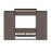 Bestar Queen Murphy Bed Orion 124W Queen Murphy Bed And 2 Shelving Units With Drawers (125W) In Bark Gray & Graphite
