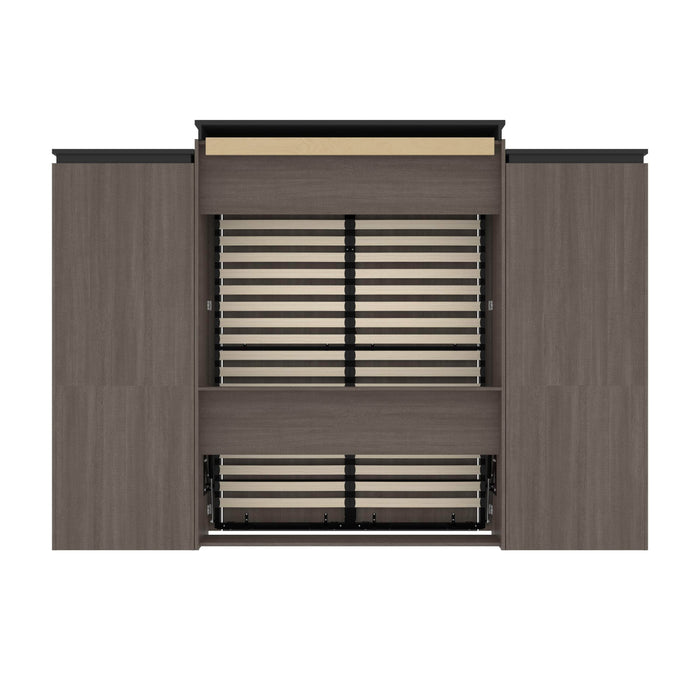 Pending - Bestar Murphy Beds Orion 124W Queen Murphy Bed And 2 Storage Cabinets With Pull-Out Shelves - Available in 2 Colors