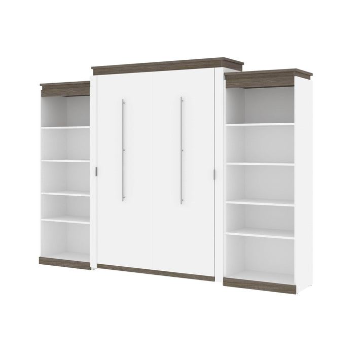 Pending - Bestar Murphy Beds Orion 124W Queen Murphy Bed With 2 Shelving Units - Available in 2 Colors