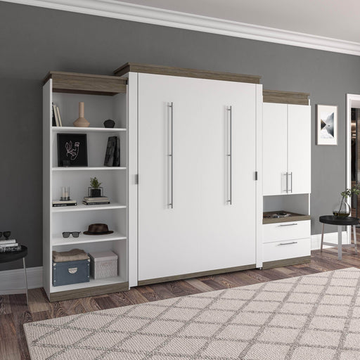 Pending - Bestar Murphy Beds Orion 124W Queen Murphy Bed With Multifunctional Storage - Available in 2 Colors