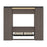 Bestar Full Murphy Bed Orion 98W Full Murphy Bed And 2 Storage Cabinets With Pull-Out Shelves (99W) In Bark Gray & Graphite