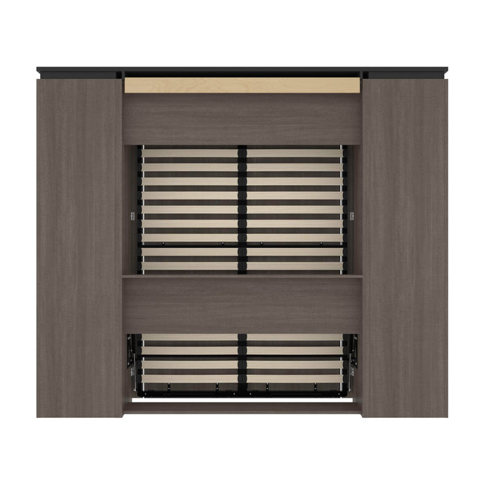 Pending - Bestar Murphy Beds Orion 98W Full Murphy Bed With Narrow Storage Solutions - Available in 2 Colors