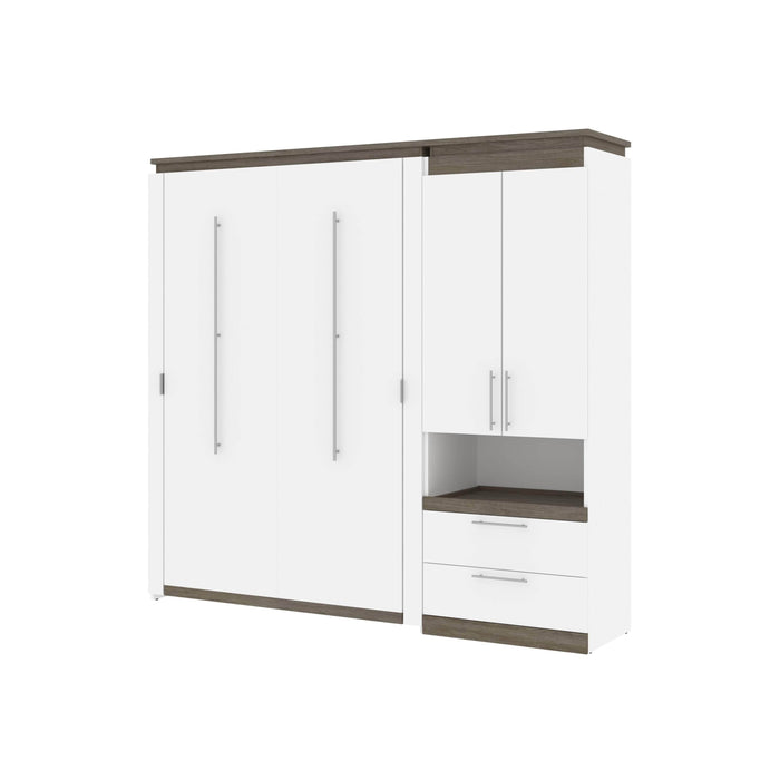 Pending - Bestar Murphy Beds Orion Full Murphy Bed And Storage Cabinet With Pull-Out Shelf - Available in 2 Colors