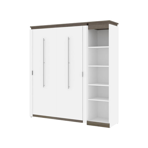 Pending - Bestar Murphy Beds Orion Full Murphy Bed With Narrow Shelving Unit - Available in 2 Colors