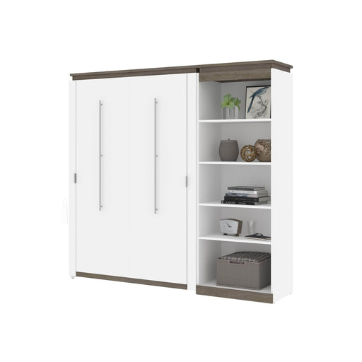 Pending - Bestar Murphy Beds Orion Full Murphy Bed With Shelving Unit - Available in 2 Colors