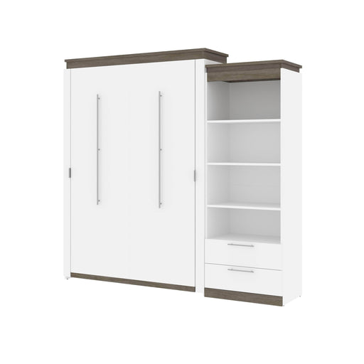 Pending - Bestar Murphy Beds Orion Queen Murphy Bed And Shelving Unit With Drawers - Available in 2 Colors