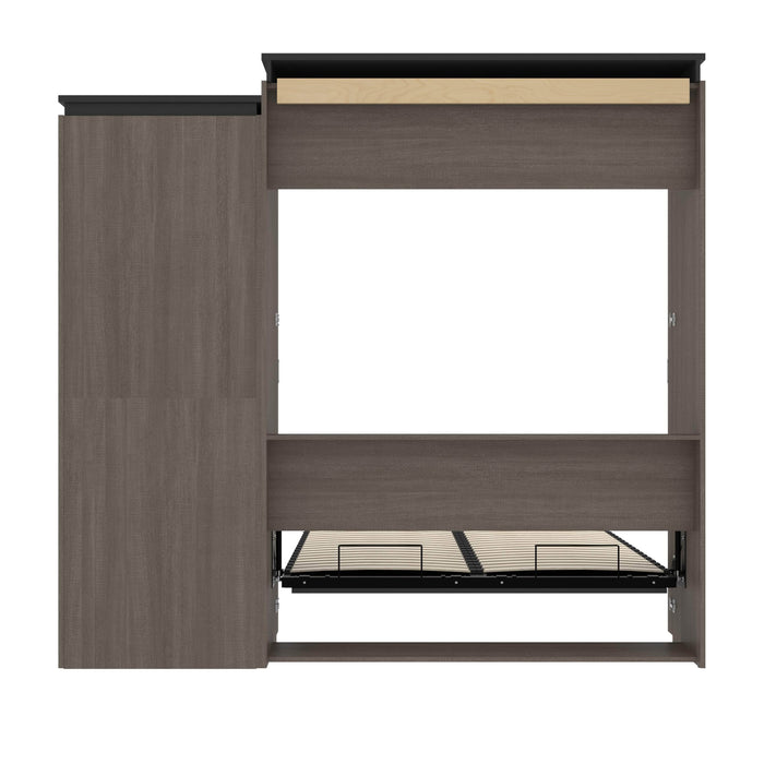 Pending - Bestar Murphy Beds Orion Queen Murphy Bed With Shelving Unit - Available in 2 Colors